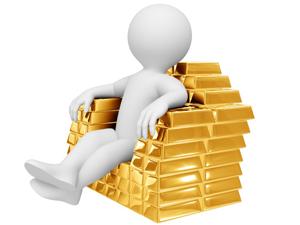 Самородные слитки золота